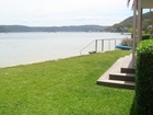 Front lawn overlooking Pittwater